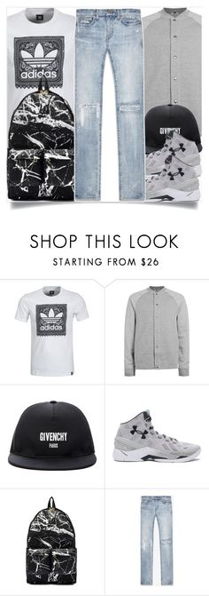"""""""Men street style"""" by madeinmalaysia ❤ liked on Polyvore featuring adidas, Topman, Givenchy, Under Armour, Off-White, Yves Saint Laurent, men's fashion and menswear"""