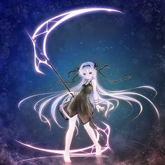 anime girl with scythe