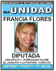 FRANCIA FLORES DIPUTADA  CIRCUITO Nº 1 PARROQUIAS