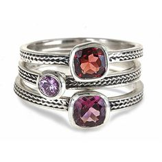 Customize your stack of gemstone rings. Your choice of colors, shapes and sizes all handcrafted in my studio in NYC. Unique and beautiful, just like you!