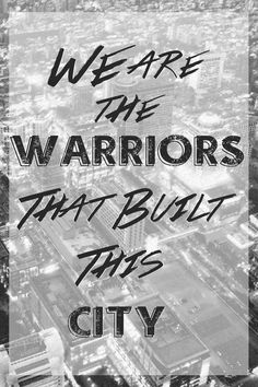 Imagine Dragons: Warriors Lyric Art. Actual Lyrics: We Are The Warriors that built this town. But I kinda mixed two songs!