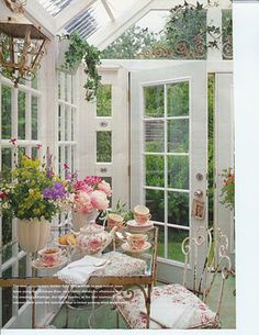Garden tea spot.