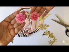 Diy Cake Topper, Birthday Cake Toppers, Cricut Tutorials, 3 D, Origami, Scrapbook, Floral, Flowers, Crafts