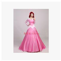 Los cuentos de hadas de los hermanos Grimm La Bella Durmiente Aurora princesa trajes de vestir para cosplay traje adulto bella durmiente traje(China (Mainland))