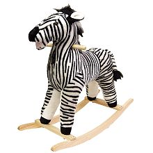 """Happy Trails Plush Rocking Animal - Zebra, One of Bella's """"BIG"""" presents, we tend to get our kids a couple big things then a bunch of smaller stuff"""