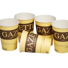 #Promotional 8oz Single Wall Paper #Cups. These personalised paper cups are 95% biodegradable and are a much safer, eco-friendly alternative to glass which can easily smash and cause damage. From £0.13.
