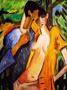 Otto Müller (German Painter, 1874-1930) Liebespaar (Lovers), 1919
