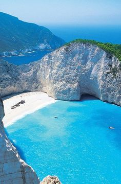 Zakynthos, Greece. Wow never seen this before but it looks like the place I…