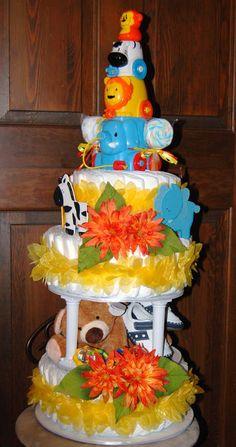 Baby Shower Cakes | Safari Baby Shower Cake