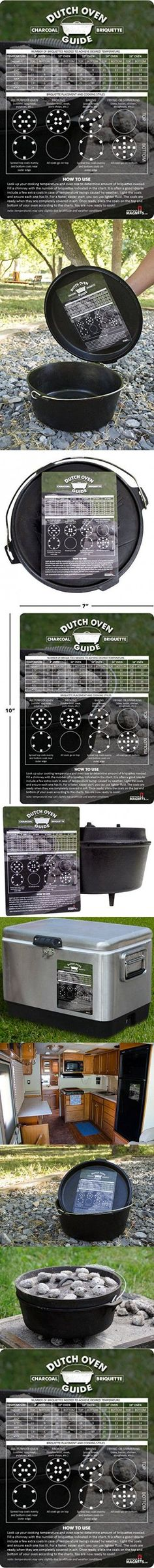 Dutch Oven Charcoal Briquettes Magnetic Cheat Sheet / Briquette Temperature Conversion Chart - The Perfect Fridge Magnet to Add To Your Dutch Oven Cookbook, Camping Gear and RV Accessories! Best Camping Gear, Camping Items, Camping List, Camping Meals, Camping Hacks, Camping Cooking, Camping Stuff, Temperature Conversion Chart, Dutch Oven Cooking