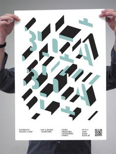 Poster, BL3D POSTER, BlotaBlota Gallery & Shop, Format DIN A2, 2 color screen print