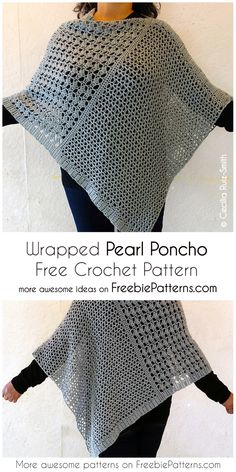 Free Crochet Patterns For Ponchos Crochet Wrapped Pearl Poncho Free Pattern Free Crochet Patterns For Ponchos 50 Free Crochet Poncho Patterns For All Diy Crafts. Free Crochet Patterns For Ponchos 50 Free Crochet Poncho Pattern. Crochet Cardigan, Crochet Scarves, Crochet Sweaters, Knitted Poncho, Knitted Shawls, Poncho Scarf, Crochet Vests, Crochet Clothes, Pull Crochet