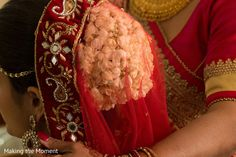 Indian bride almost ready for wedding ceremony http://www.maharaniweddings.com/gallery/photo/92719 @makingthemoment