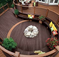 Two-Tier custom deck with firepit | Lasher Roofing & Contracting  | www.lashercontracting.com | Southern New Jersey | #Roofing  #Contracting #Remodeling