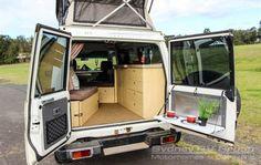 Toyota Landcruiser KEA Conqueror Off-Road Pop Top Freedom Machine! Mini Camper, Off Road Camper, Truck Camper, Camper Trailers, Hilux Camper, Toyota Camper, Vw Conversions, Camper Conversion, Outback Campers