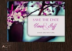 SAVE THE DATE  Hand made personalized card by PinisArtShop on Etsy, €3.00