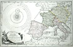 Map of Western Europe from 1791
