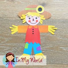 Scarecrow Craft Activity | Scarecrow Craftivity | Scarecrow Cut & Paste Scarecrow Crafts, Board Decoration, Common Core Reading, Thing 1, Cut And Paste, Colored Paper, Classroom Themes, Craft Activities, Cut And Color