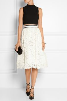 ALICE + OLIVIA Kizzy guipure lace skirt $727.16 http://www.net-a-porter.com/products/559429