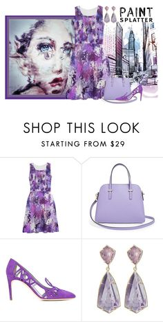 Purple paint splatter by heatherm3 on Polyvore featuring Pollini, Kate Spade, Kendra Scott and paintsplatter