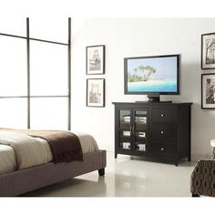 Convenience Concepts Sierra Highboy TV Stand TV Stand in Espresso Build A Tv Stand, 50 Tv Stand, Tv Stands, Furniture Deals, Home Furniture, Furniture Outlet, Online Furniture, Bedroom Furniture, Highboy Tv Stand