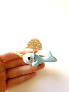 whimsical narwhal brooch