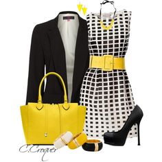 I like the style and pattern of the dress. Also like the bold colored belt.