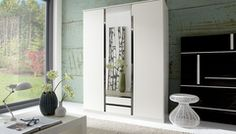 German Made Wardrobe in 2 3 and 4 Doors with mirrors in White Bedroom