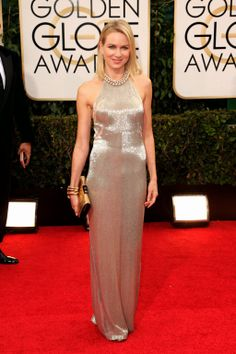 Naomi Watts in Tom Ford | Golden Globes 2014