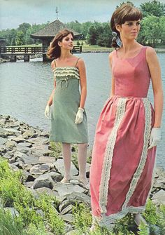 Colleen Corby 1960s Lace Detail Dresses
