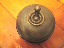 LARGE VINTAGE BRASS DOLLY LIGHT SWITCH