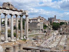 Rome's Forum - The Roman kingdom's earliest shrines and temples were located on the southeastern edge. Roman Forum, Roman Architecture, Greeks, Ancient Rome, Roman Empire, Romans, Temples, Places Ive Been, Taj Mahal