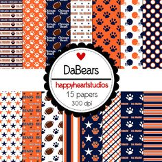 Digital Scrapbook DaBears-INSTANT DOWNLOAD