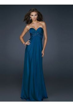 Sheath/Column Sweetheart Sleeveless Chiffon Prom Dresses/Evening Gowns With Beaded #FK813