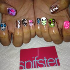 Invader ZIM nail art!! I'm in love.