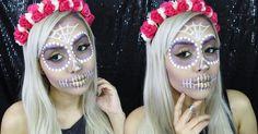 Oi gente, tudo bem com vocês? Hoje eu trago mais uma maquiagem inspiração para o Halloween! A make de hoje é uma caveira mexicana super d...