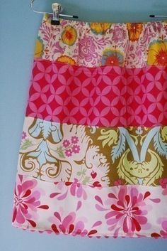 SPRING is cominghappy scrappy skirtpdfpattern by littlebitfunky