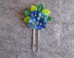 Clip de papel con accesorios de fieltro sombrero por TinyFeltHeart