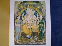 A Fabulous 1939 Lithograph of Lord Ganesh by L.A. by Lallibhai, £15.00