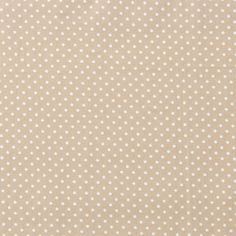 Spotmania Pinspot, Beige White - Printed Cotton - Lincraft