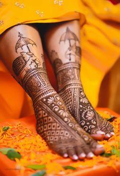 Best Mehndi Designs For Every Kind Of Bride! Leg Mehendi Design, Leg Mehndi, Mehndi Designs Feet, Modern Mehndi Designs, Beautiful Mehndi Design, Dulhan Mehndi Designs, Mehndi Design Images, Henna Mehndi, Mehndi Art