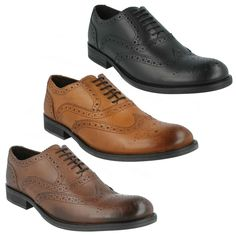 MENS BASE LONDON LEATHER LACE UP BLACK TAN BROWN BROGUE FORMAL SHOES WALNUT MTO   eBay