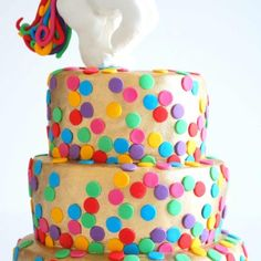 Golden Rainbows and Unicorns Cake