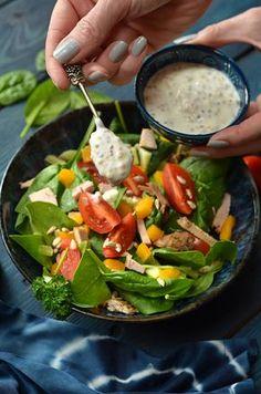 sałatka zeszpinaku Lunch Recipes, Diet Recipes, Healthy Recipes, Keto Cucumber Recipe, Feta, Good Food, Yummy Food, Green Bean Recipes, Asian Recipes