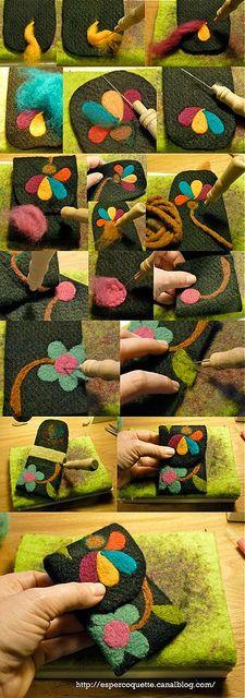 needle felting tutorial http://espercoquette.canalblog.com/