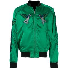 Diesel embroidered satin bomber jacket (10,960 THB) ❤ liked on Polyvore featuring men's fashion, men's clothing, men's outerwear, men's jackets, green, mens green bomber jacket, mens green jacket, mens embroidered jacket, mens shawl collar jacket and diesel mens jacket