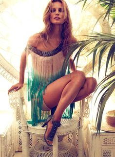 Really cute fringe dress for summer. All I want for Summer is Dresses!