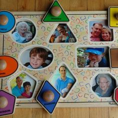 Personalized photo puzzle = What an awesome gift for a toddler! Not only does this teach shapes, it also becomes a family picture frame for little ones!