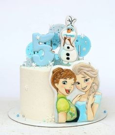 Ideas Birthday Girl Princess Theme Decoration For 2019 Pink Dessert Tables, Pink Desserts, Frozen Birthday Cake, Birthday Cakes For Men, Birthday Kids, Birthday Parties, Elsa, Frozen Theme Cake, Strawberry Decorations