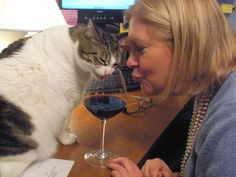 Sharing wine with my girl...Callie!